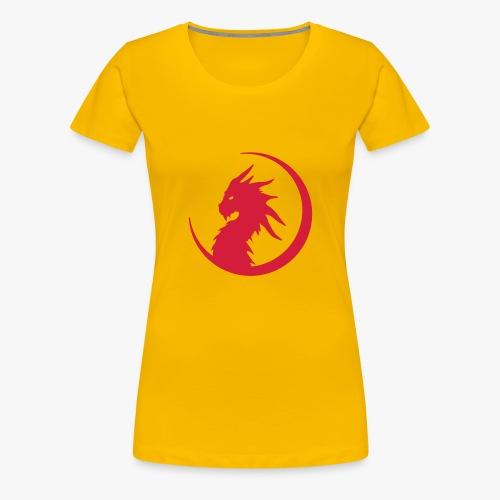 Dragon Moon Silhouette - Dame premium T-shirt