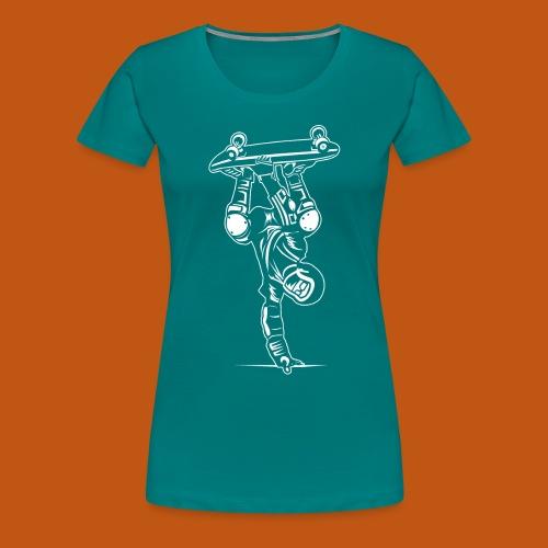 Skater / Skateboarder 02_weiß - Frauen Premium T-Shirt