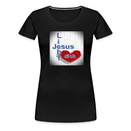 Jesus liebt dich - Frauen Premium T-Shirt