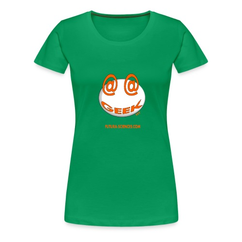 geek arobase orange - T-shirt Premium Femme