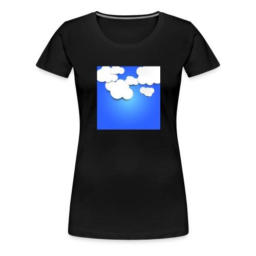 Himmel mit Wolken - Frauen Premium T-Shirt