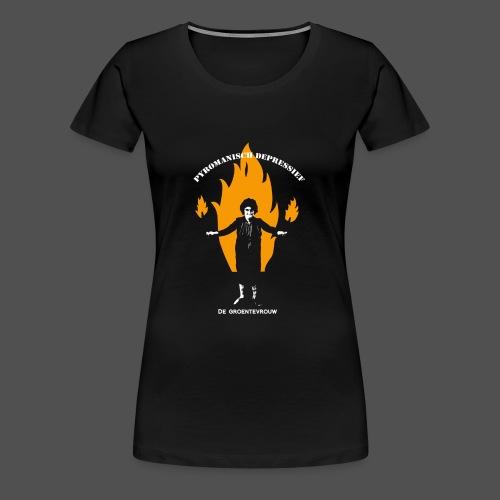 Pyromanisch Depressief (v) - Vrouwen Premium T-shirt