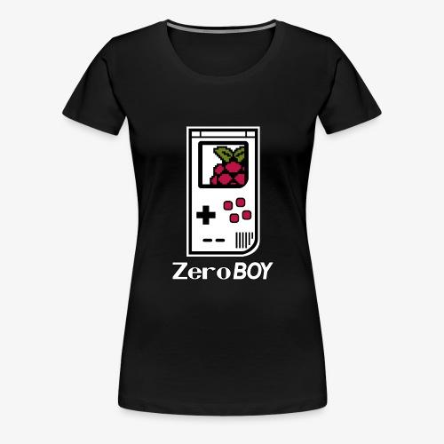 Logo mit Schriftzug - Frauen Premium T-Shirt
