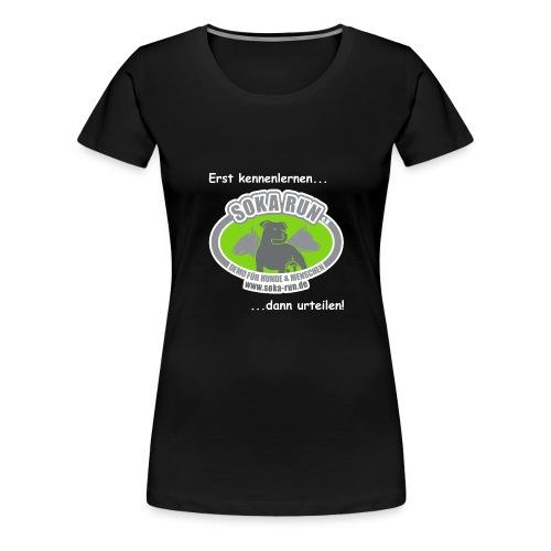 logo text weiss - Frauen Premium T-Shirt