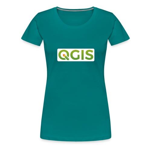 QGIS text logo (white) - Women's Premium T-Shirt
