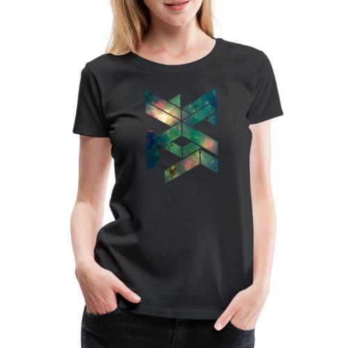 Galaxie Geometische Form - Frauen Premium T-Shirt