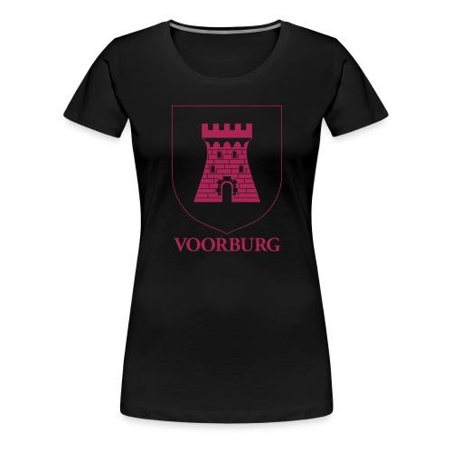 Voorburg wapen lijn - Vrouwen Premium T-shirt