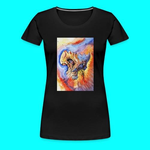 Calavera Acuarela - Camiseta premium mujer
