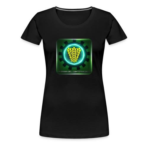 t-shirt logo grande la bibbia del contoterzista - Maglietta Premium da donna