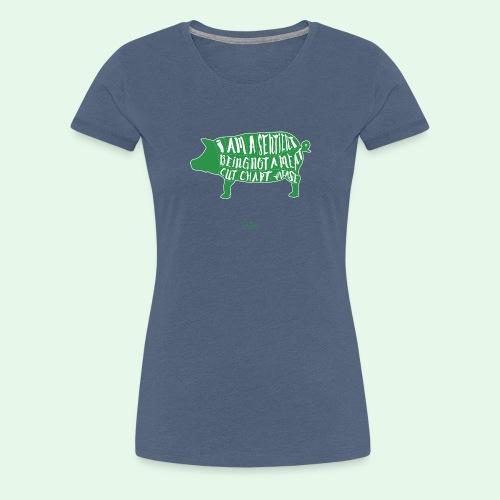 Sentient Being - Green - Premium-T-shirt dam
