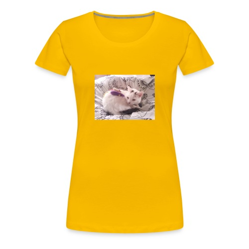 CAT SURROUNDED BY MICE AND BUTTERFLIES. - Women's Premium T-Shirt