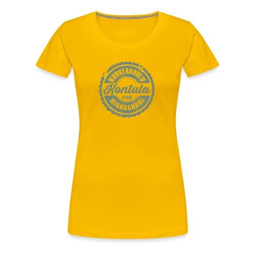 06V-KONTULAN KORKEAKOULU - Tekstiilit ja lahjat - Naisten premium t-paita