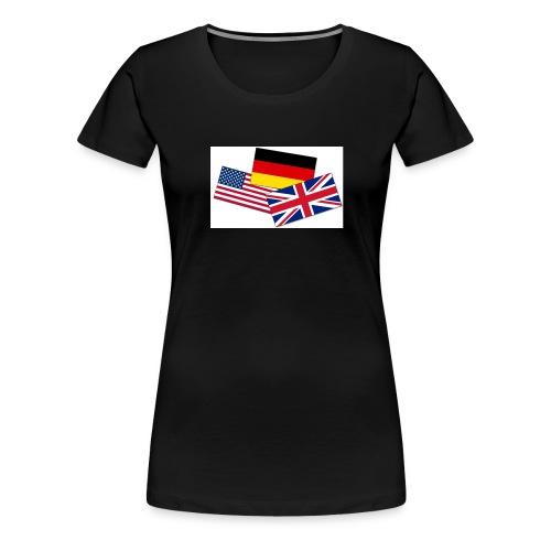 Englisch_Deutsch_Unterhaltung_Prod - Frauen Premium T-Shirt