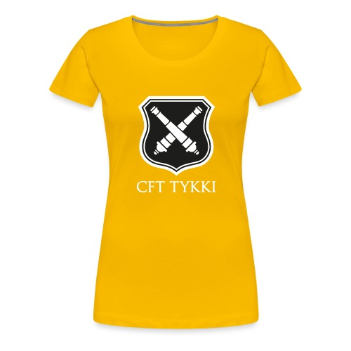 CFT Tykki valk teksti - Naisten premium t-paita