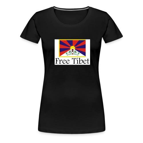 tibetflagfree - Frauen Premium T-Shirt