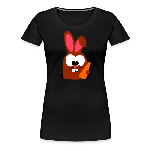 """Hase """"Möhritz"""" - Frauen Premium T-Shirt"""
