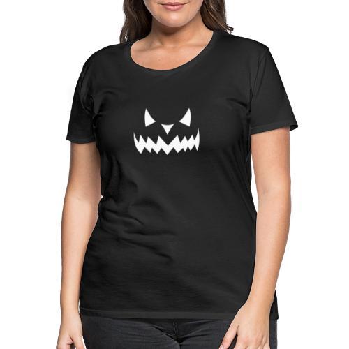 Pumpkin Face Halloween white - Frauen Premium T-Shirt