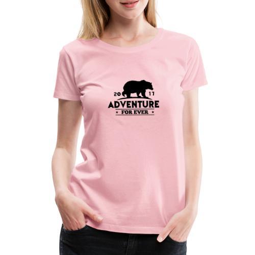 ADVENTURE FOR EVER - GRIZZLY - Maglietta Premium da donna