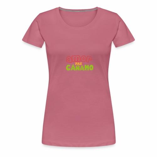 Amor. Paz. Cáñamo. - Camiseta premium mujer