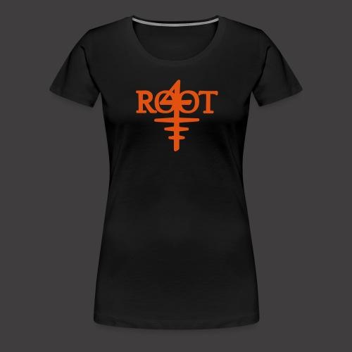 root4 logo weiss - Frauen Premium T-Shirt