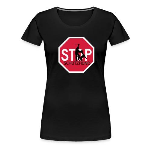 STOP schutzhund - Naisten premium t-paita