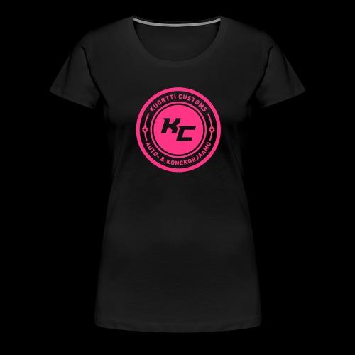kc_tunnus_musta_uusi2 - Naisten premium t-paita