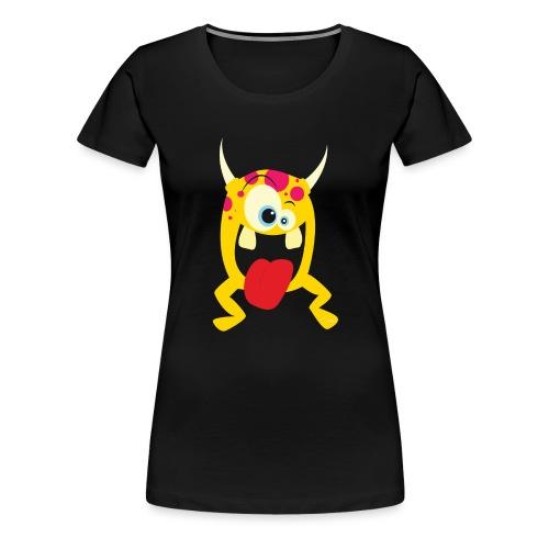 Monster Yellow - Vrouwen Premium T-shirt