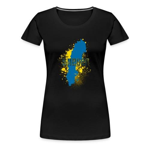 Sweden Abstract 2 Text - Frauen Premium T-Shirt