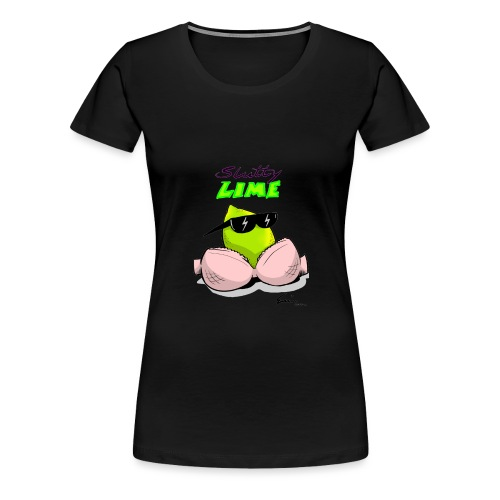 Slutty Lime - Dame premium T-shirt