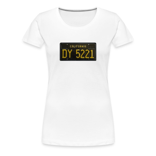 CALIFORNIA BLACK LICENCE PLATE - Women's Premium T-Shirt