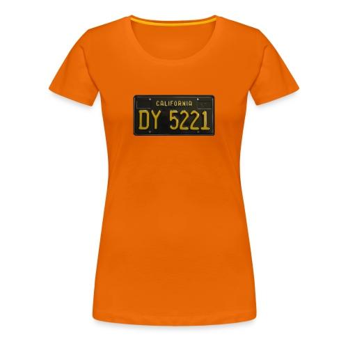 CALIFORNIA BLACK LICENCE PLATE - Women's Premium T-Shirt