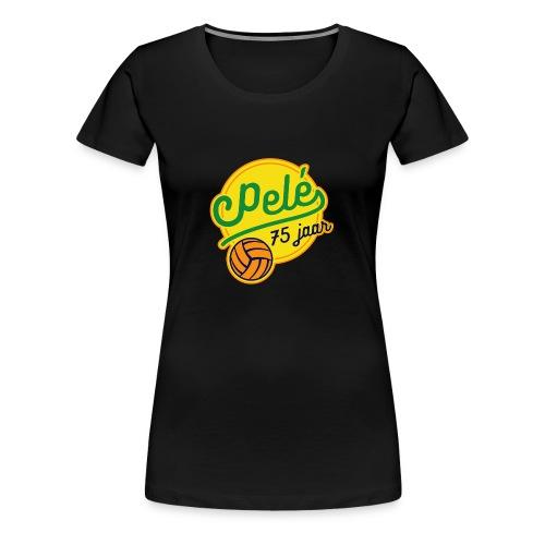Logo 75 jaar Pelé - Vrouwen Premium T-shirt