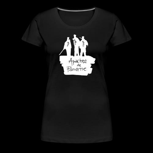 logo apache blanc - T-shirt Premium Femme
