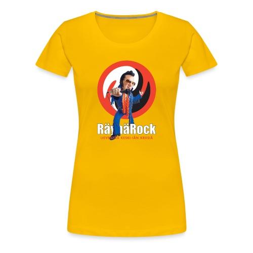 Räyhärock musta - Naisten premium t-paita