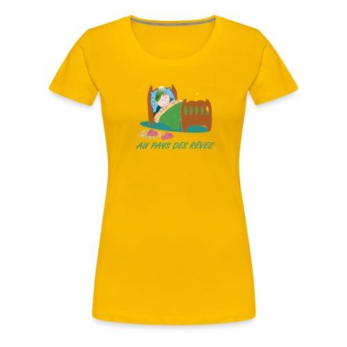 Personnage endormi - T-shirt Premium Femme