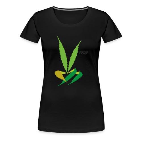 LeafHandDes3 png - Vrouwen Premium T-shirt