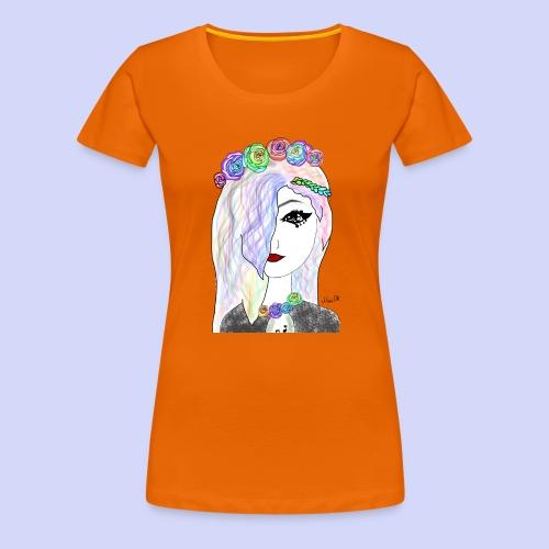 Rainbow flower girl - Female shirt - Dame premium T-shirt