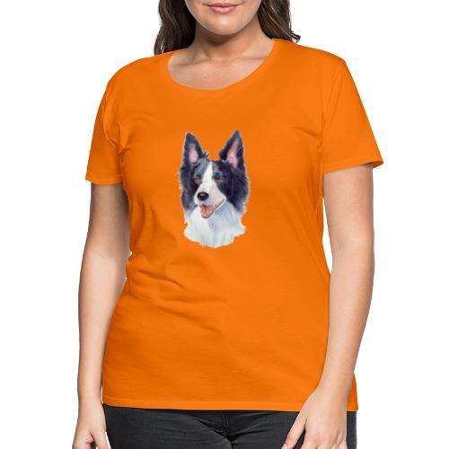 border collie akv 1 - Dame premium T-shirt