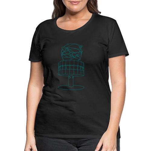 Weltzeituhr in Berlin - Frauen Premium T-Shirt