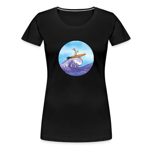 Morotssurfning - Premium-T-shirt dam