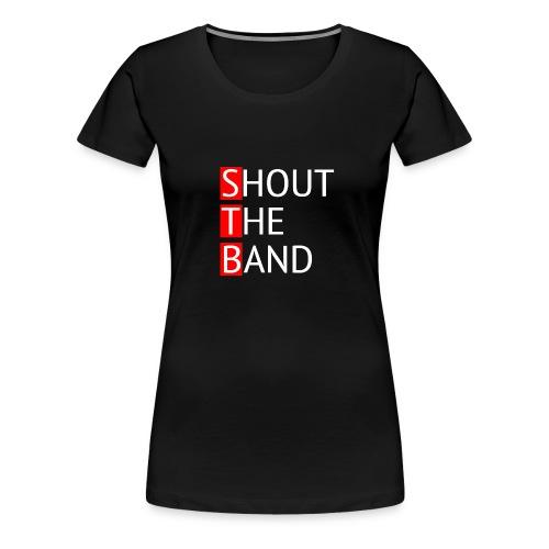 shout-logo- - Naisten premium t-paita