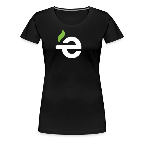 E logo white on black - Vrouwen Premium T-shirt