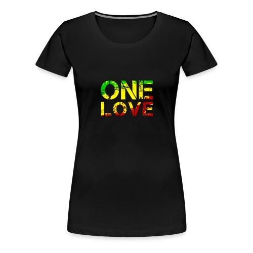 One Love - Reggea Musik - Frauen Premium T-Shirt