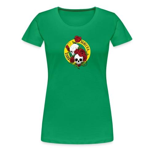 SKULL'S N ROSES - Camiseta premium mujer