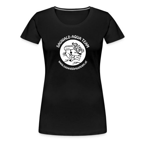 sat sau weiss rund mitweb png - Frauen Premium T-Shirt