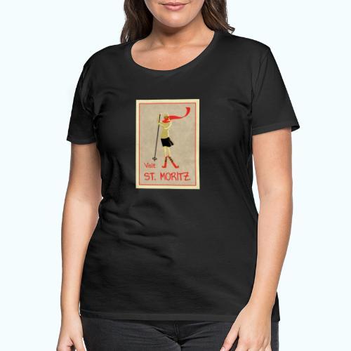 Vintage Retro Reise Plakat St Moritz - Women's Premium T-Shirt