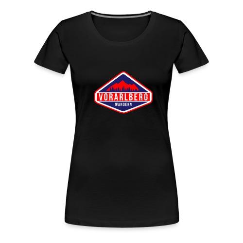 Vorarlberg Wandern Logo - Frauen Premium T-Shirt