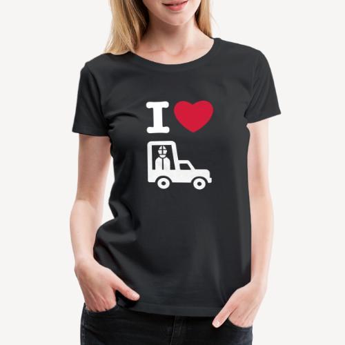 I LOVE THE POPEMOBILE - Women's Premium T-Shirt