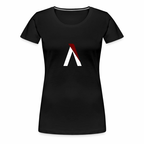 logo aog white and red - T-shirt Premium Femme