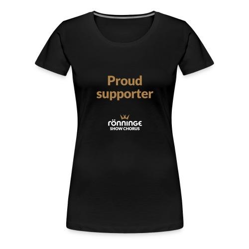 CITAT Proud supporter - Premium-T-shirt dam